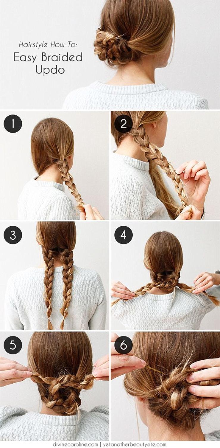 Простые прически для средних волос инструкция