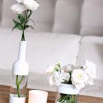 DIY vázičky na svadobný stôl na 6 spôsobov